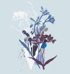 wild flowers vector image