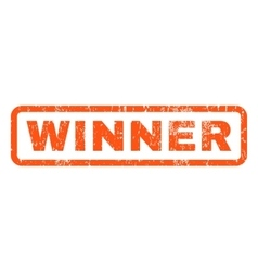 Winner rubber stamp vector