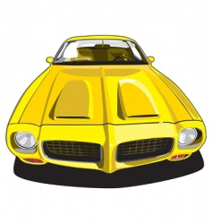 yellow sport car vector image vector image