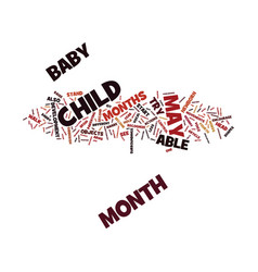Your child s st year development month to month vector