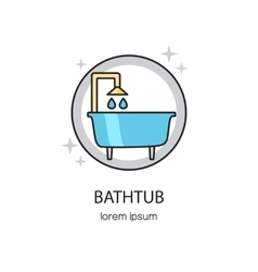 Bathtub and sanitary logotype design templates vector