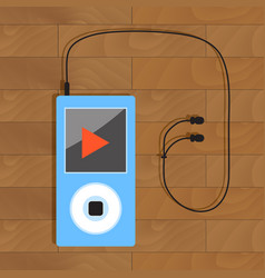 Mp3 player with headphone vector