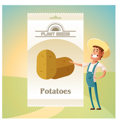 Pack of potatoes seeds icon vector