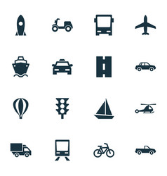 Shipment icons set collection of automobile van vector