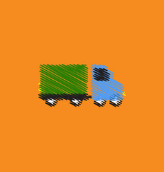 Flat icon design collection truck vector