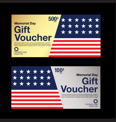 Gift voucher coupon template vector