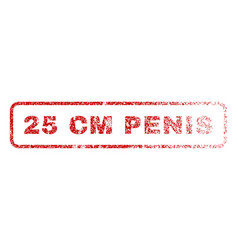 25 cm penis rubber stamp vector image