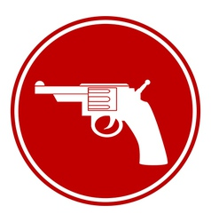 Revolver button vector