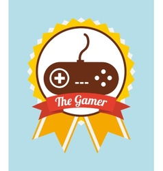 Gamer icon vector