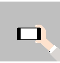 Hand with mobile phone vector