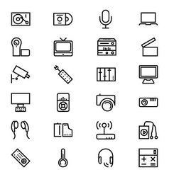 Gadgets line icons 2 vector