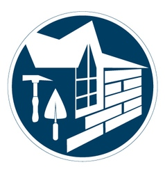 Housing construction symbol vector