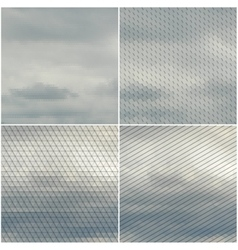 Gray cloudy sky collection of abstract vector