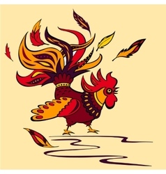 Cartoon of a isolate rooster vector