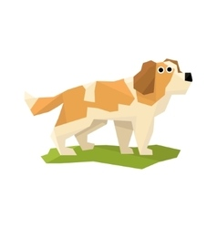 St bernard rescue dog vector