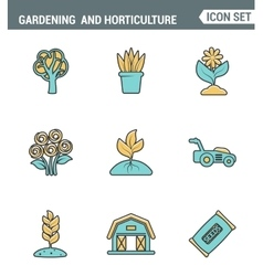Icons line set premium quality of gardening and vector