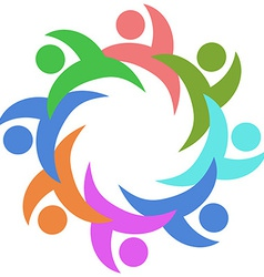 abstract color people around vector image vector image