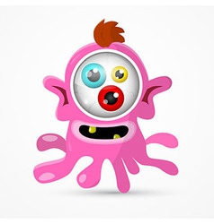 Abstract Pink Monster - Alien Isolated on Wh vector image vector image