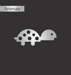 black and white style icon turtle vector image