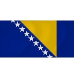 Bosnia and herzegovina waving flag vector