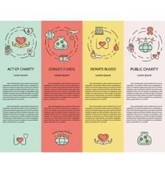 Charity and donation banners vector