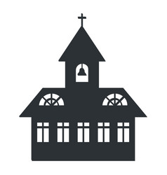 Church building silhouette vector