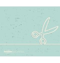 Creative scissor Art template vector image vector image
