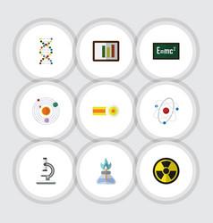 Flat icon knowledge set of milky way orbit vector