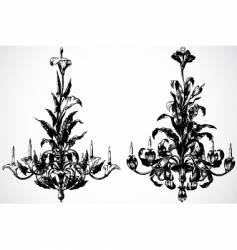 floral chandaliers vector image vector image