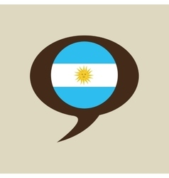 Globe sphere flag argentina country button graphic vector