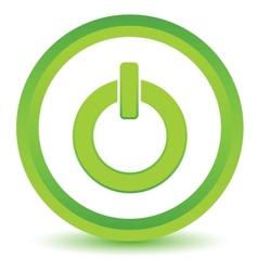Green power icon vector