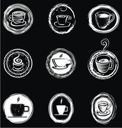 Handpainted Coffee Cup vector image vector image