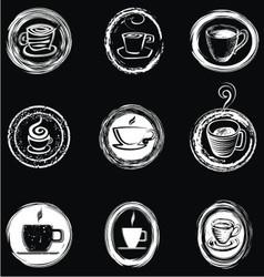 Handpainted coffee cup vector