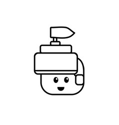 line warrior head character to video game vector image