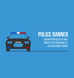Police logo and banner with car vector