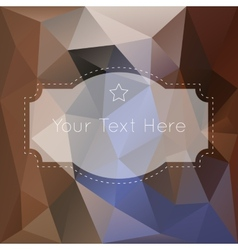 Retro vintage polygonal background vector image vector image