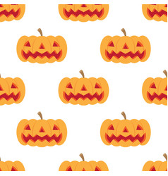 seamless halloween pattern with set of scary vector image