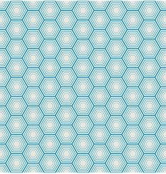 seamless hexagon background vector image vector image