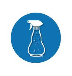 Splash bottle laundry icon vector