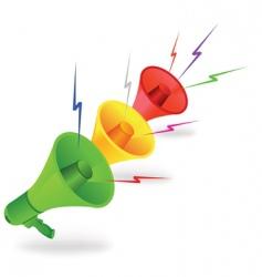 three loudspeakers vector image vector image