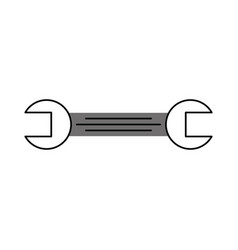 tool wrench repair mechanic equipment icon vector image