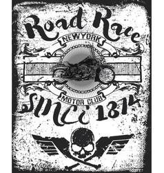 Vintage motorcycle skull riders motorbike vector