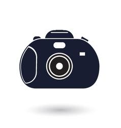 Black and white camera icon vector image