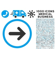 Arrow right icon with 1000 medical business vector