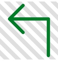 Turn left icon vector