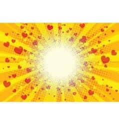 Valentine heart background pop art retro vector