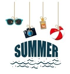 poster summer hanging ball camera sun blocker vector image