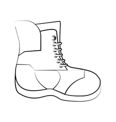 Boot of winter cloth design vector