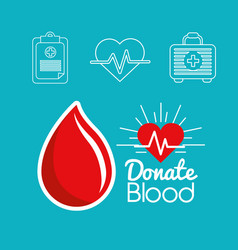 Blood donation days icon vector