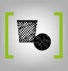 trash sign   black scribble vector image